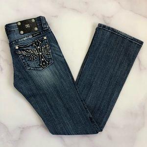 Miss Me Cross Wings JP5343B3 Boot Cut Jeans